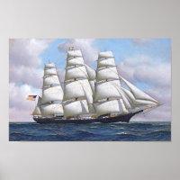 Sailing Ship Vintage Poster Segelschiff