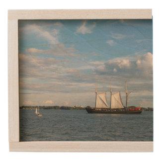 Sailing Ship Wooden Keepsake Box