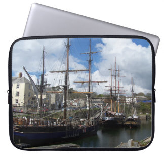 Sailing Ships Charlestown Harbour Cornwall Photo Laptop Sleeve