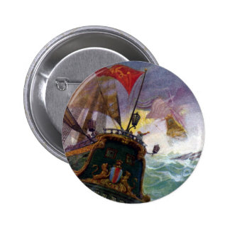 Sailing Ships in a Stormy Sea Buttons
