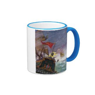 Sailing Ships in a Stormy Sea Mug