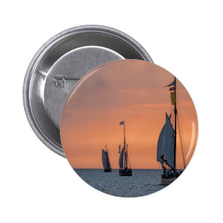 Sailing ships in sunset light on the Baltic Sea 2 Inch Round Button