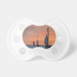 Sailing ships in sunset light on the Baltic Sea Pacifier