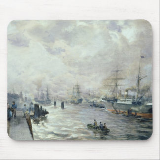 Sailing Ships in the Port of Hamburg, 1889 Mouse Pad