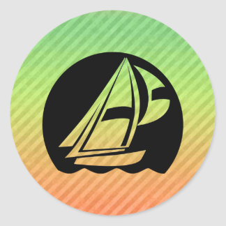 Sailing Classic Round Sticker