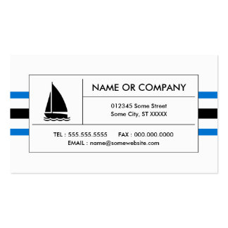sailing stripes Double-Sided standard business cards (Pack of 100)