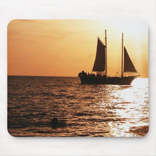 SAILING SUNSET, MONTEGO BAY, JAMAICA MOUSE PAD