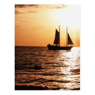 SAILING SUNSET MONTEGO BAY JAMAICA POSTCARDS