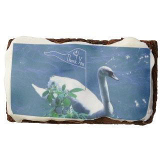 Sailing Swan Thank You Brownies Rectangular Brownie