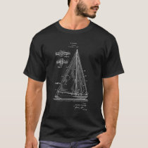Sailing T-Shirt Sailboat blueprint #5