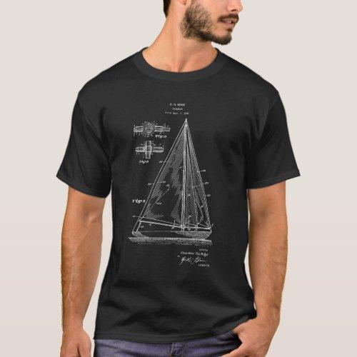 Sailing T_Shirt Sailboat blueprint 5