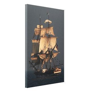 Sailing Tall Clipper Ship Ocean Sea Boats Canvas Print