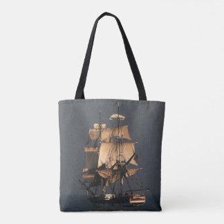Sailing Tall Clipper Ship Ocean Sea Tote Bag