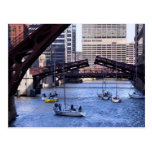 Sailing the Chicago River Postcard