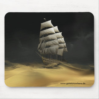 Sailing The Desert - Mousepad
