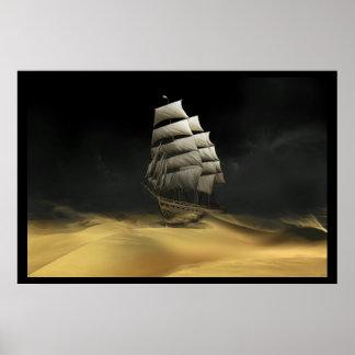 Sailing The Desert Poster