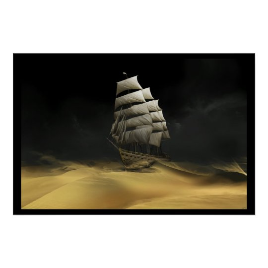 Sailing The Desert Poster