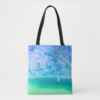 Sailing The Open Seas Tote Bags