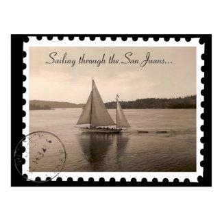 Sailing the San Juans Post Card
