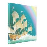 Sailing the Sea  Rainbow Canvas Print