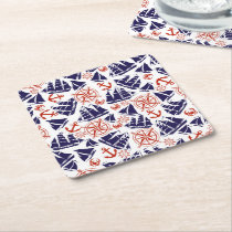 Sailing the Seas Square Paper Coaster