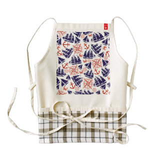 Sailing the Seas Zazzle HEART Apron