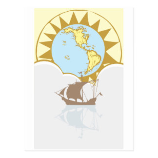 Sailing the World Post Card