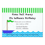 "Sailing Themed Invitation 5"" X 7"" Invitation Card"