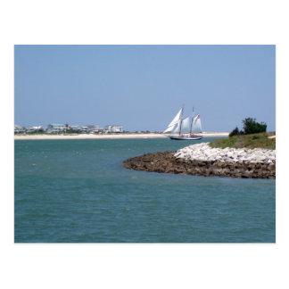 Sailing through the Inlet Postcard