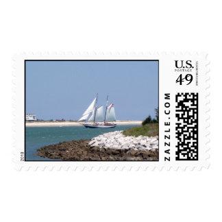 Sailing through the Inlet Stamp