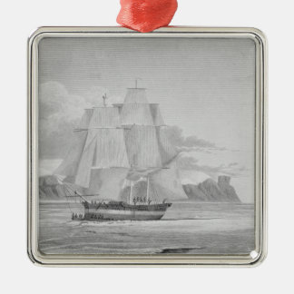 Sailing through young ice, September 1824, from 'J Metal Ornament