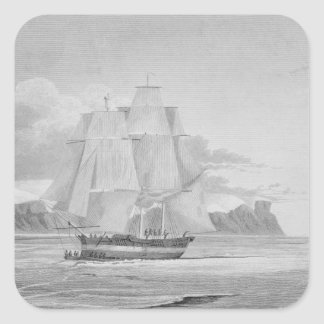 Sailing through young ice, September 1824, from 'J Stickers