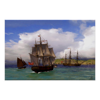 sailing to southern shores poster