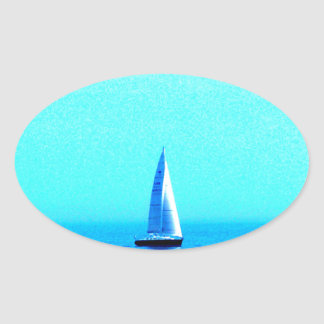 sailing to success oval stickers