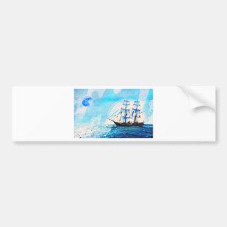 sailing to turqouise horizons car bumper sticker