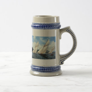 Sailing together beer stein