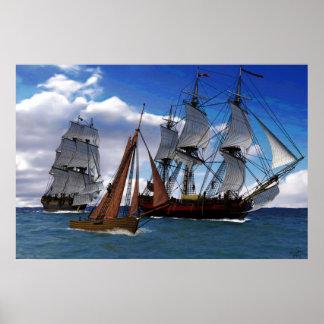 sailing together print