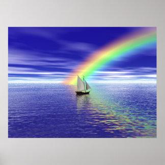 Sailing Toward Paradise Poster