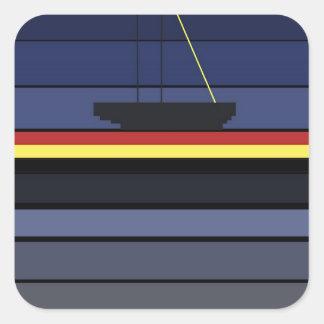 sailing trough the night square sticker