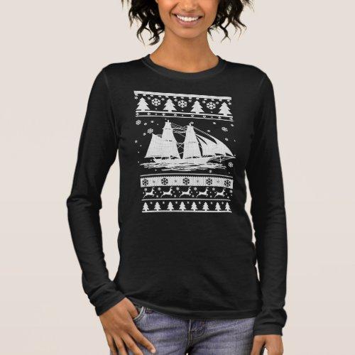 Sailing Ugly Christmas Long Sleeve T-Shirt After Christmas Sales 5297