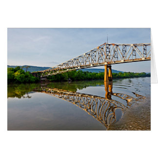 Sailing Under A Bridge Over The Tennessee River Greeting Card