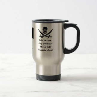 Sailing Under the Black Flag! Travel Mug