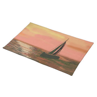 Sailing under the Orange Sky Placemats