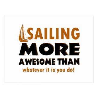 Sailing vector designs postcard