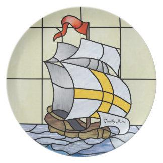 Sailing Vessel Desert Plate