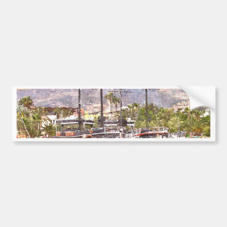 Sailing vessels in the port bumper sticker