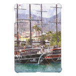 Sailing vessels in the port iPad mini cases