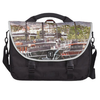 Sailing vessels in the port bags for laptop