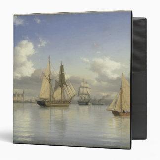 Sailing Vessels off Kronborg Castle, Sweden, 1880 3 Ring Binder
