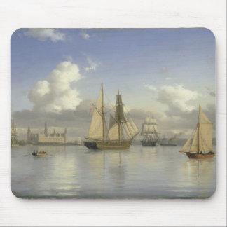 Sailing Vessels off Kronborg Castle, Sweden, 1880 Mouse Pad
